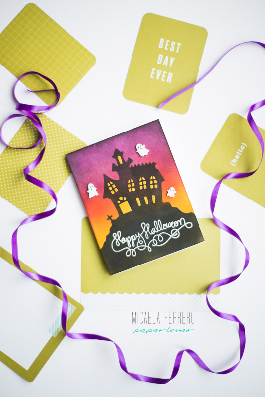 Ideas para Tarjetas de Halloween - Cardmaking en español - Tintas Distress Ink