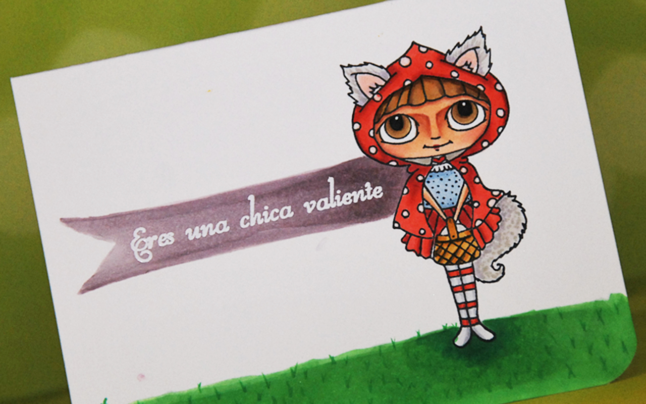 Colaboración con Latina Crafter, Coloreando con Copic Markers