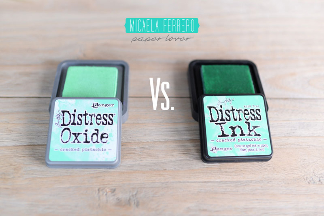 Especial Tintas: Distress Oxide vs. Distress Ink