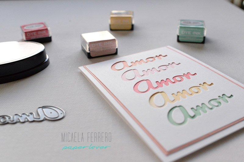 Esfumado con tintas - Tarjeta con troqueles - Cardmaking en español